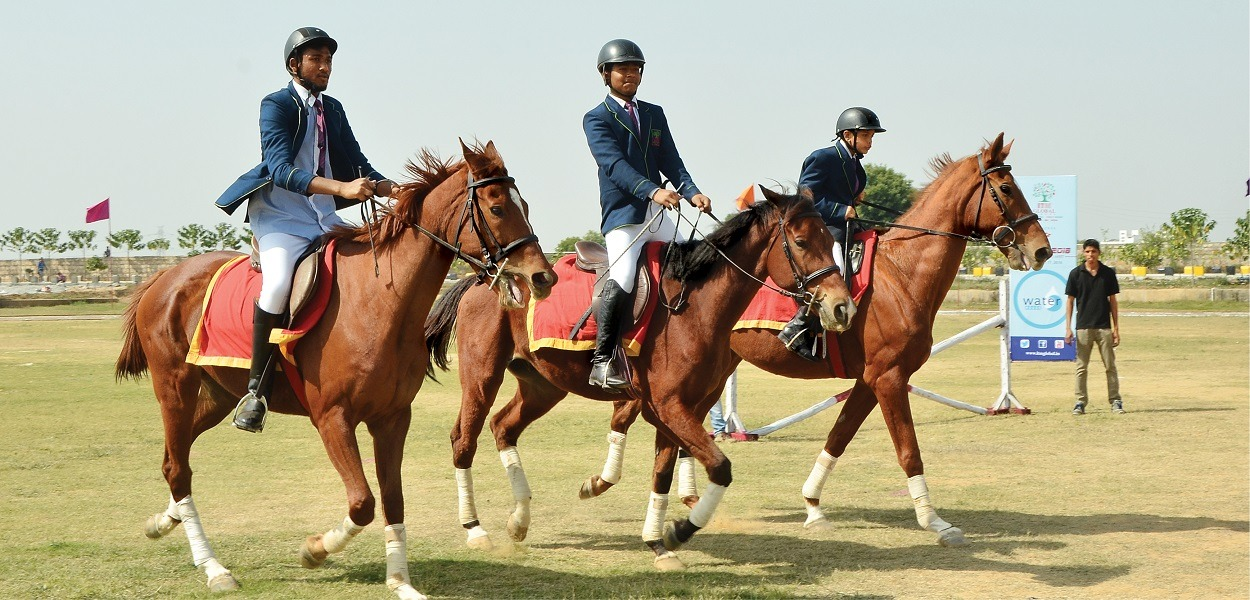 Horse-Riding Activity At ITM Global School