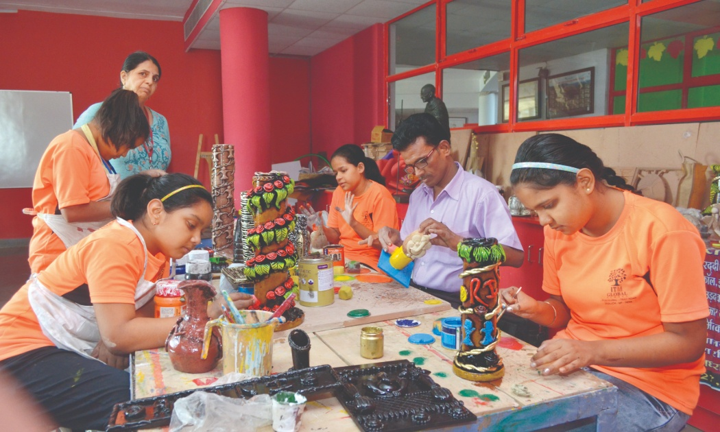 art and craft activity ITM GLOBAL SCHOOL