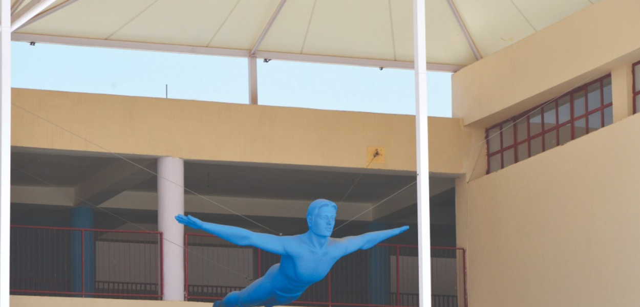 sculpture in campus ITM Global Scool
