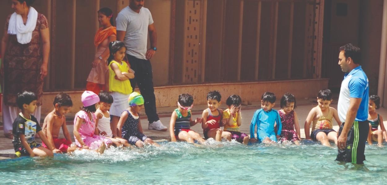 swiming activity ITM GLobal School