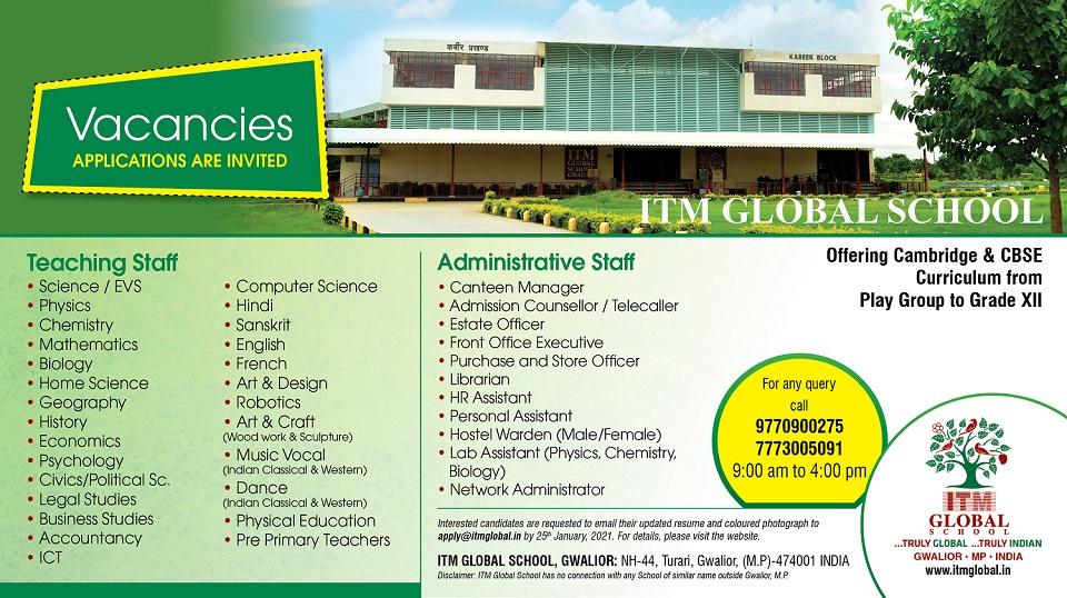 vacancies Itm Global School